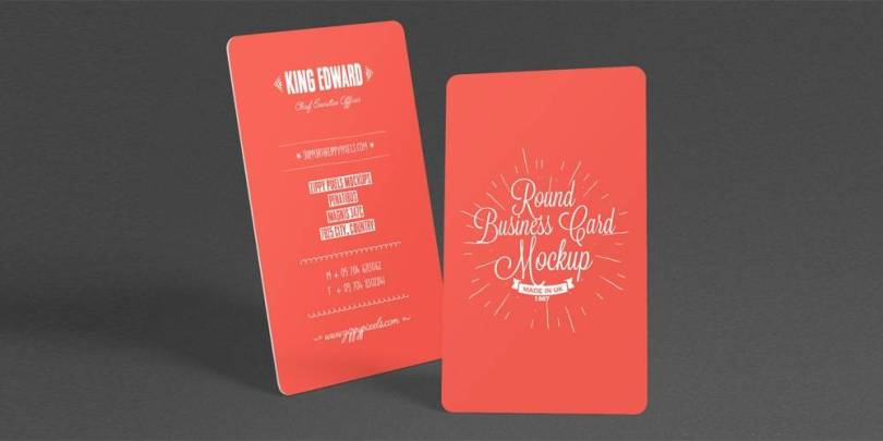 Free Stylish Round Business Card Mockup PSD