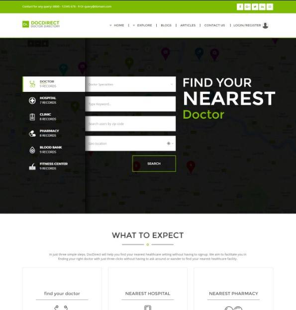 Directory DocDirect - Responsive WordPress Theme