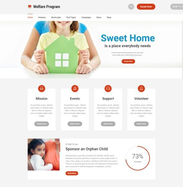 Welfare NGO - Nonprofit Organization Charity Theme
