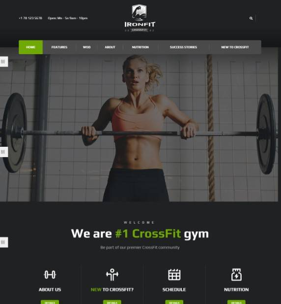 Fitness, Gym and Crossfit WordPress Theme