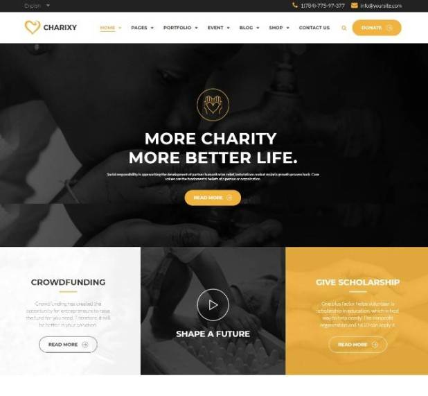 Charixy - Charity/Fundraising WordPress Theme | Charity WordPress