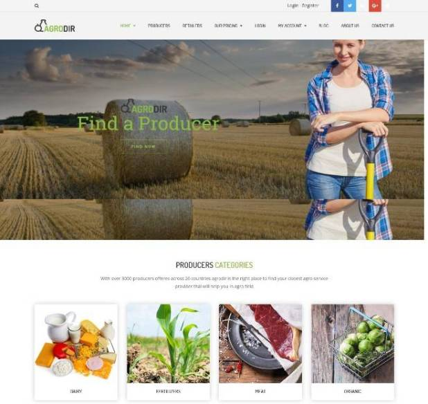 Agrodir - Directory for Producers & Retailers