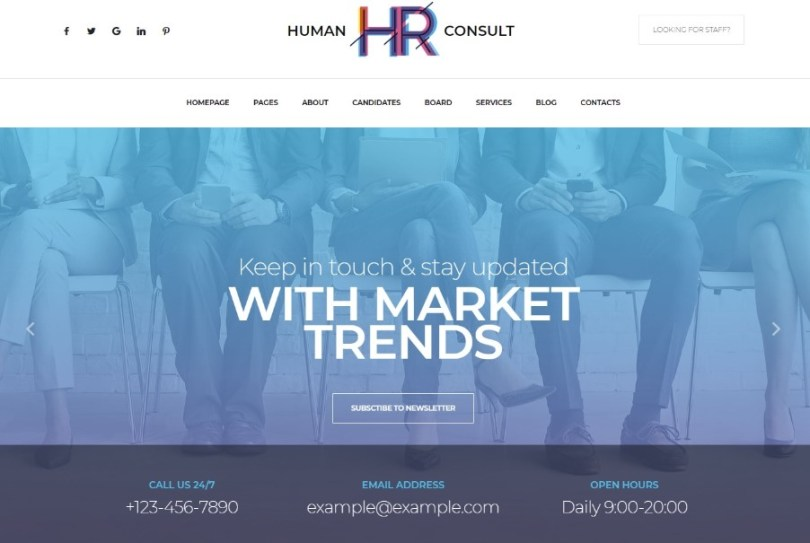 HR Human Consult - Human Resources & Recruiting WordPress Theme