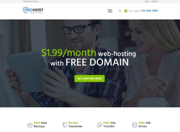 ProHost - A Trendy Hosting & Technology WordPress Theme
