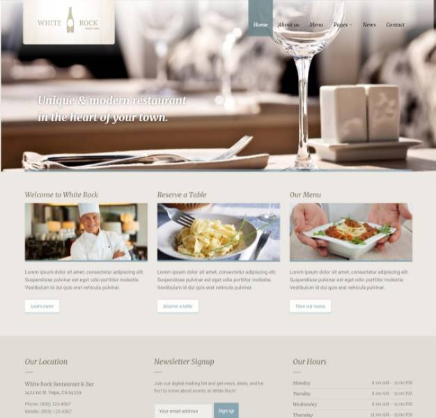 White Rock wordpress themes