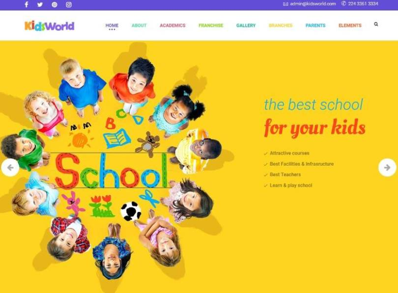 Kids Heaven - Children, Kids WordPress Theme