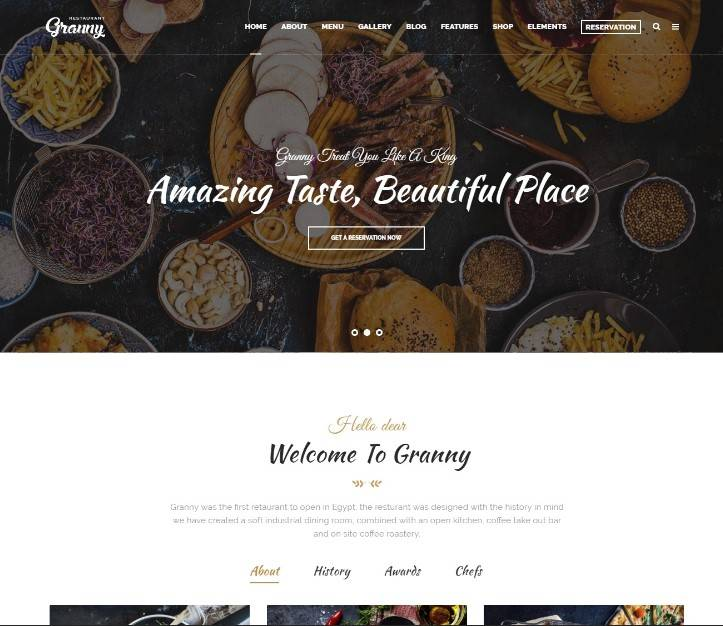 Restaurant Granny wordpress themes