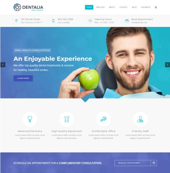 Dentalia - Dentist & Medical WordPress Theme
