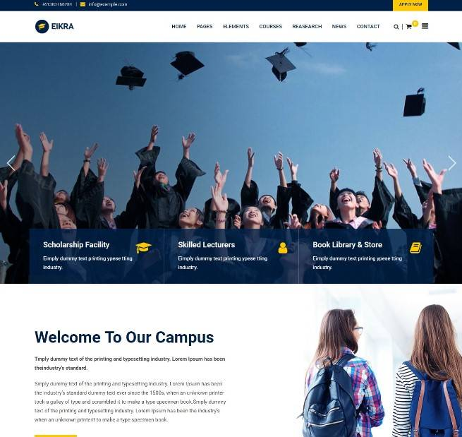 Eikra Education - Education WordPress Theme