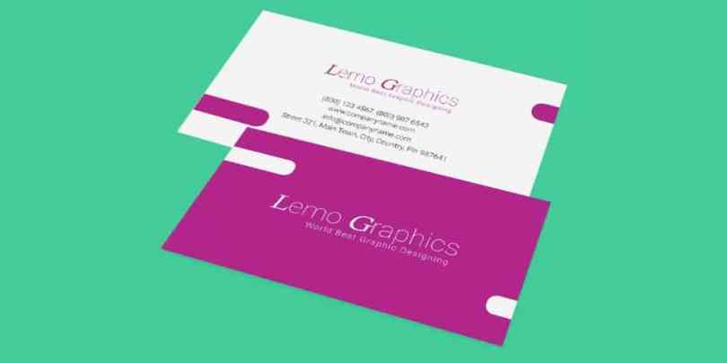 Business Card Mockup Template PSD
