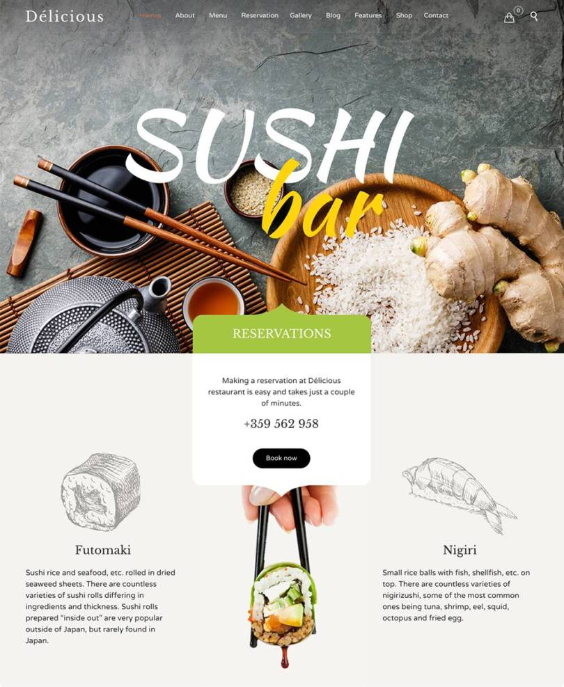 Restaurant Cafe wordpress themes