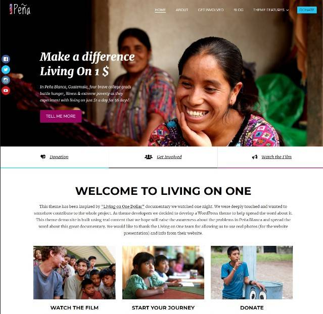 Pena - Charity/Non-Profit WordPress Theme