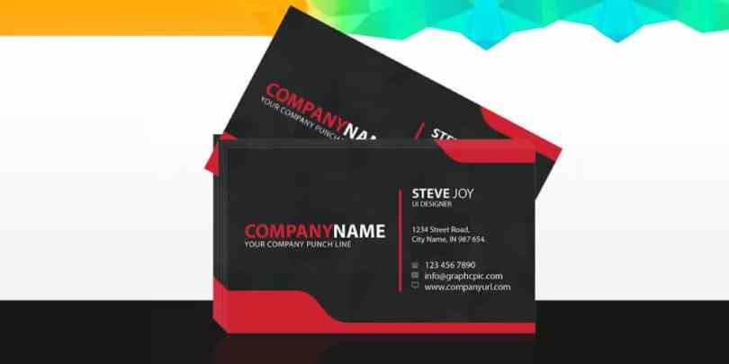UI Designer Business Card Mockup PSD