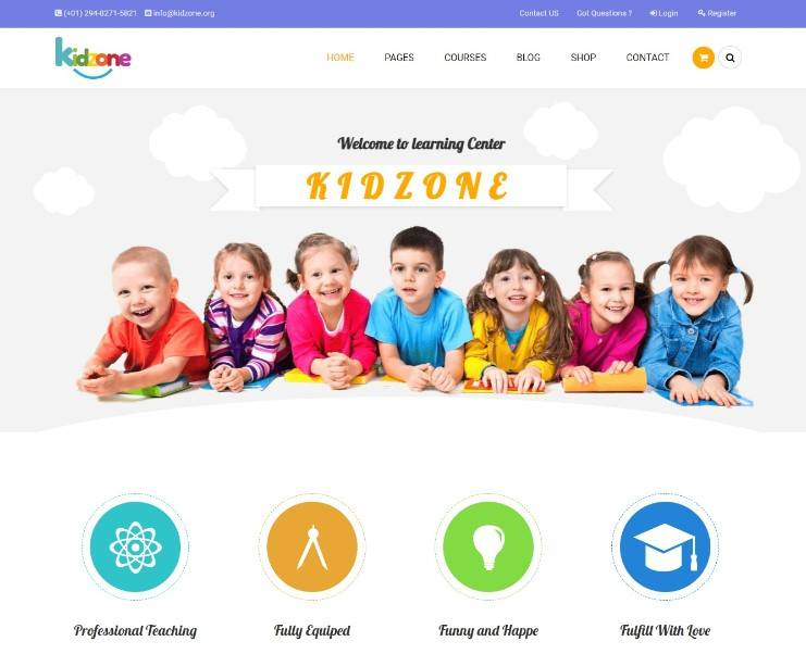 Kidzone - Children Kindergarten WordPress Theme
