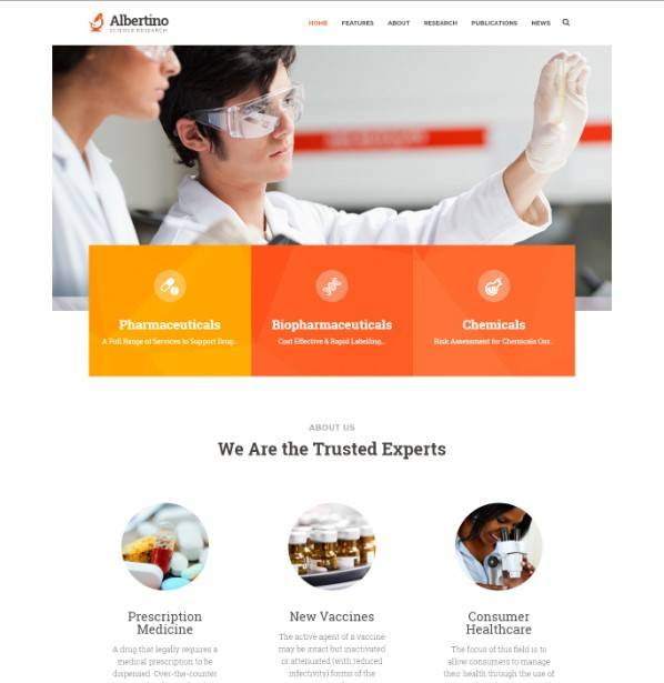 Albertino wordpress theme