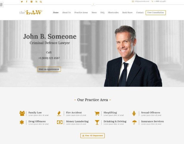 The Law Lawyer - Lawyers Theme + RTL