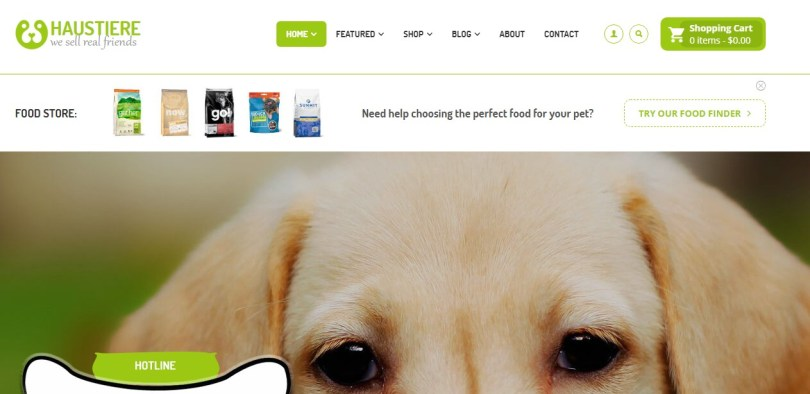 Haustiere - Pets Store RTL WooCommerce WordPress Theme