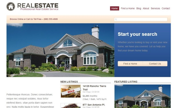 WP Pro Real Estate wordpress theme