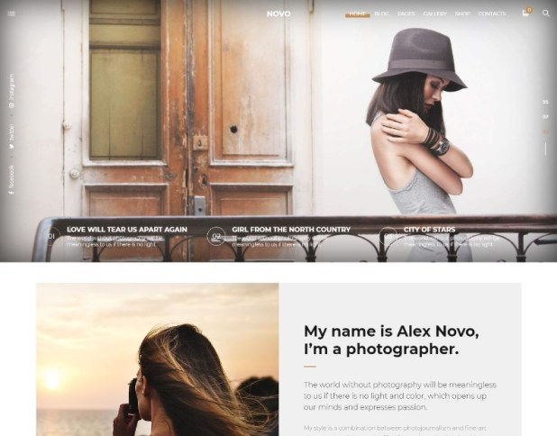 Photography Novo | Photography WordPress for Photography