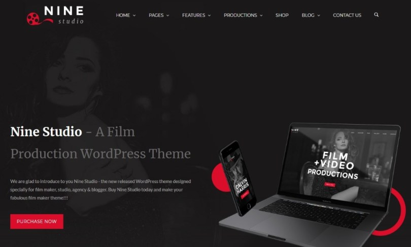 Nine Studio - A Film Maker, Studio, Agency & Blogger WordPress Theme