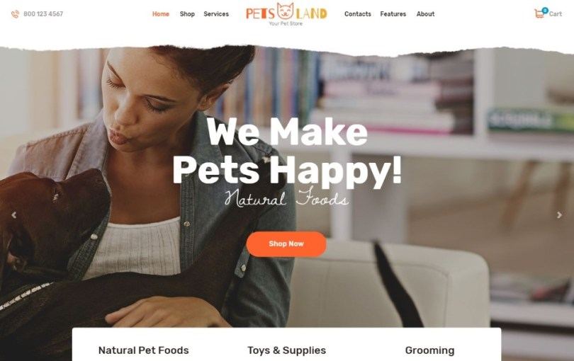 Pets Land | Pet Shop & Veterinary WordPress Theme