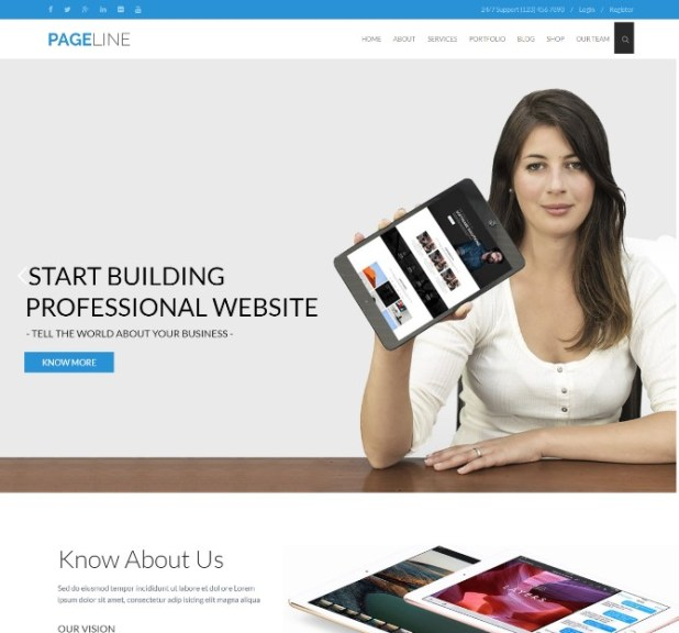 PageLine - Bootstrap Based Multi-Purpose WordPress Theme