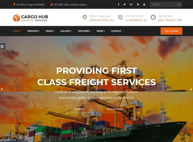 Cargo HUB - Transport WordPress Theme