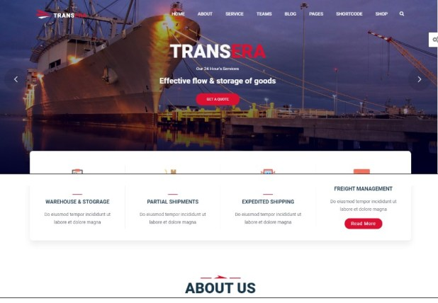 Logistics Transportation wordpress themes