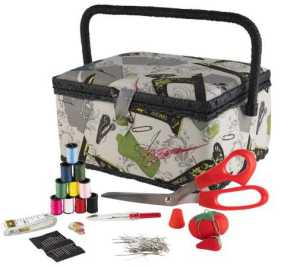 SINGER 07281 Vintage Sewing Basket