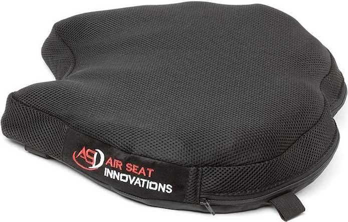 Short SKWOOSH Classic Saddle Motorcycle Gel Seat Cushion Cooling Mesh Breathable Fabric Made in USA Accessories