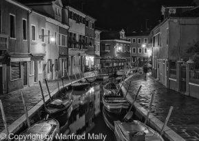 Nachtaufnahmen; Burano;Venetien;Italien