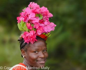 Blumen Frau Grenada;Karibik