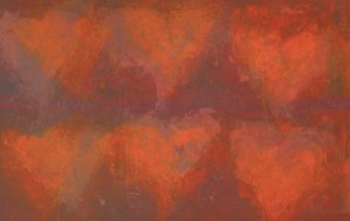 6 hearts multi-media © Linda Naiman