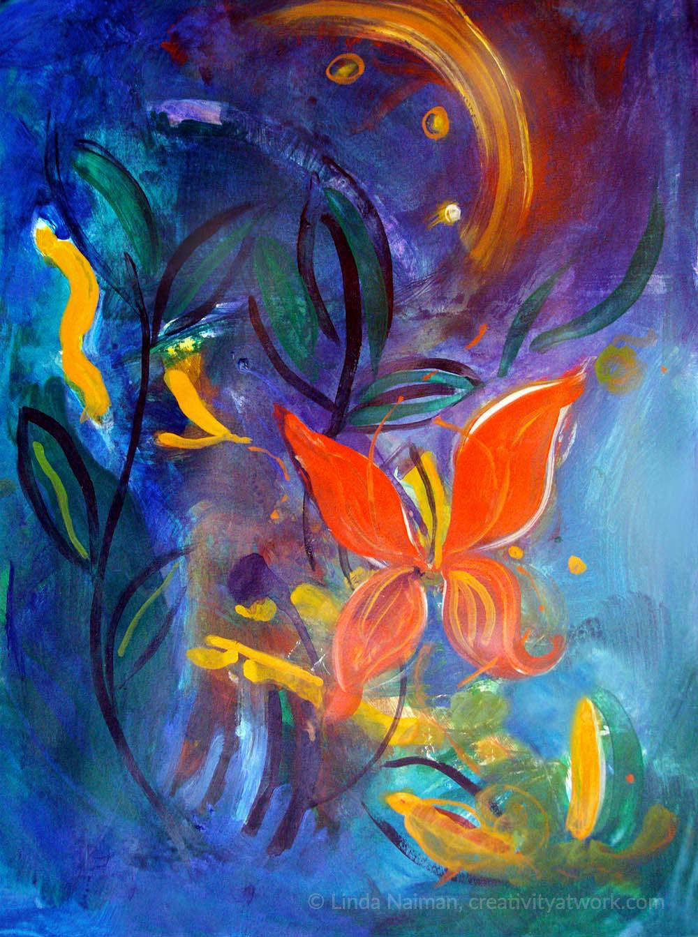 Butterfly at Night © Linda Naiman