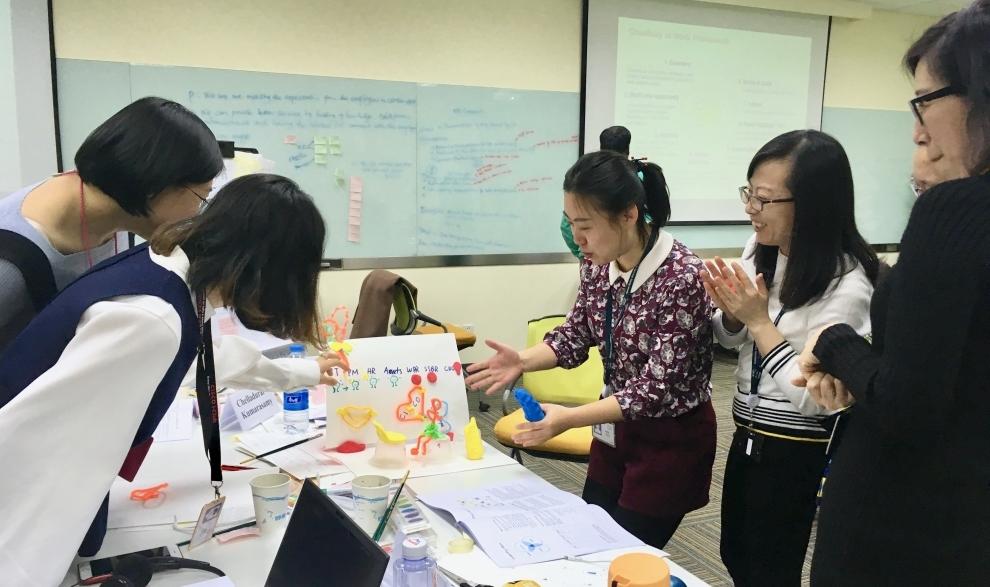 design thinking + arts-based learning workshop