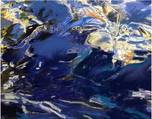 Ripples Study 2 Art © Linda Naiman 2018