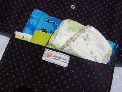 Artist Inspired: Double Duty Diaper Buddy – Diaper Bag and Change Pad by Nana Brown's
