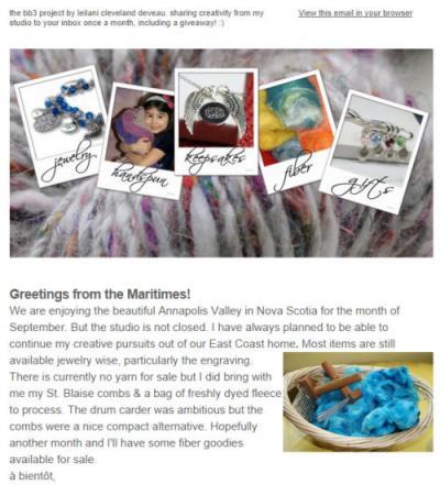 September Newsletter & Giveaway