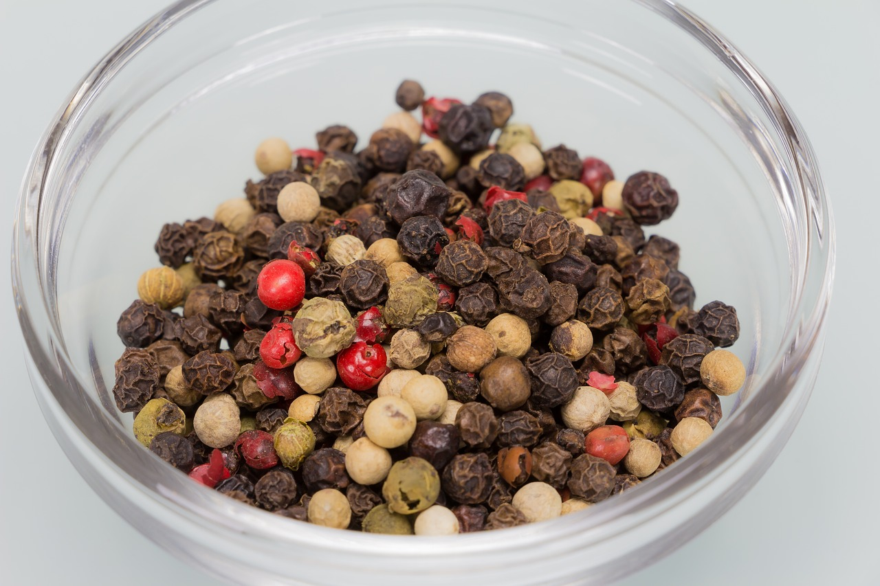 Peppercorns black pepper