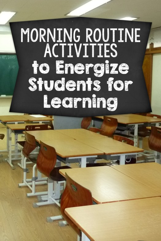 Modern Classroom Games ~ Morning routine activities getting your students