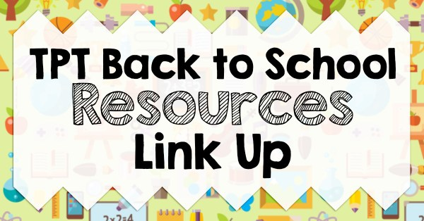 TPT Back to School Resources Link Up by the Wise Guys lead