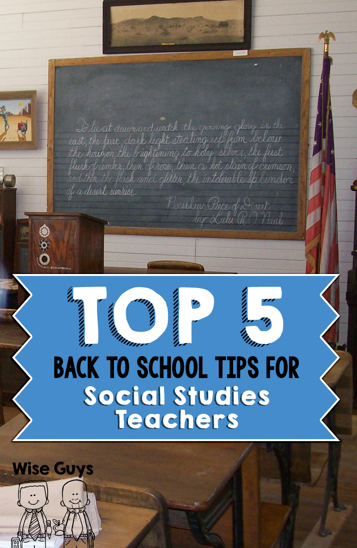 There are some key ideas and concepts that social studies teachers have to be thinking about as well. We have come up with our top 5 back to school tips for social studies teachers.