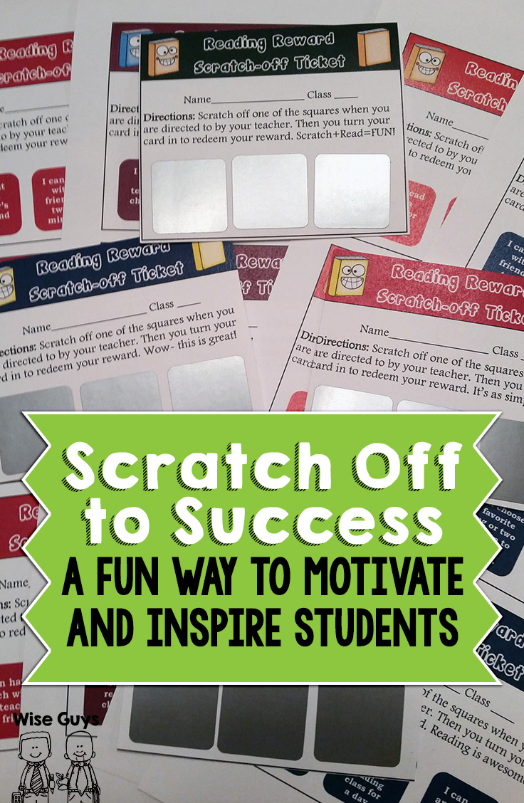 Inspire and motivate your students with these fun scratch-off ticket rewards. They're easy to make, here's how!