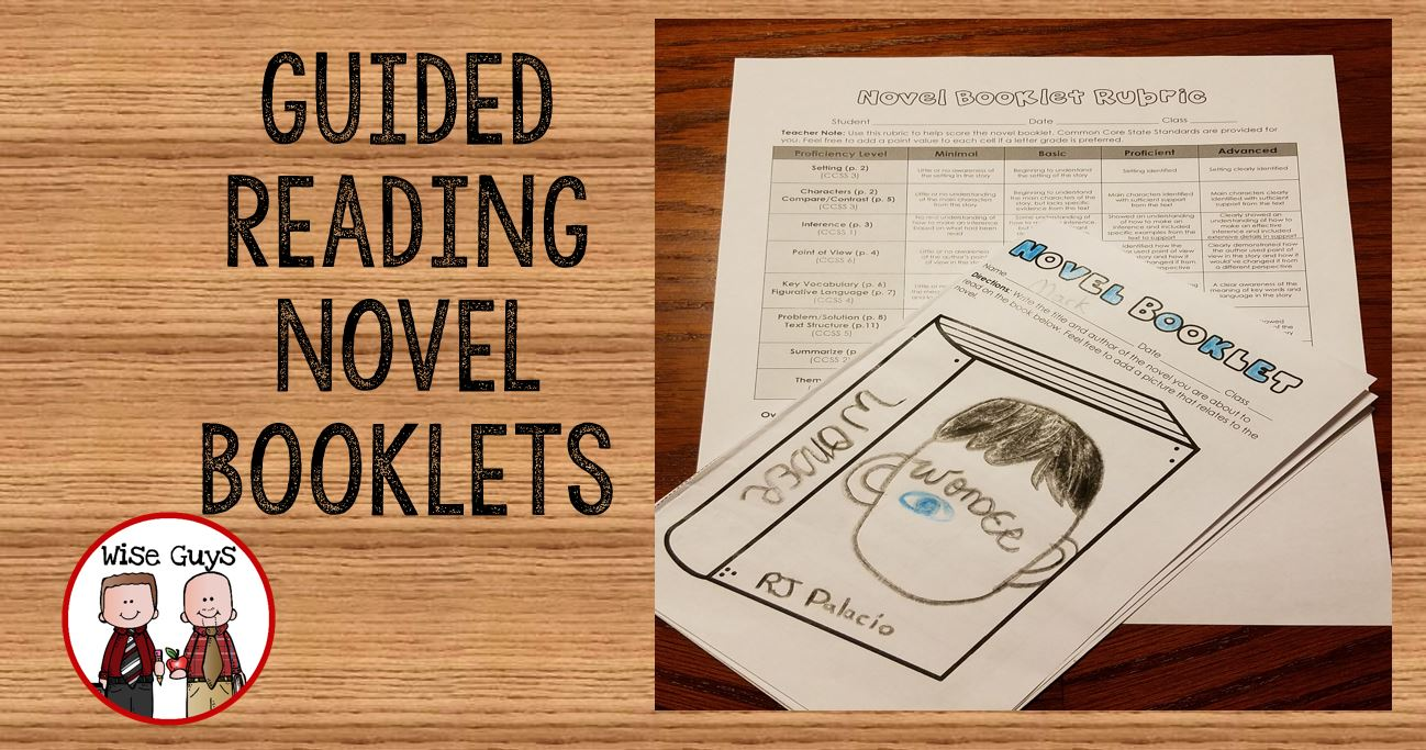 Standards based guided reading novel booklets are a great way to teach reading strategies aligned to the common core standards.