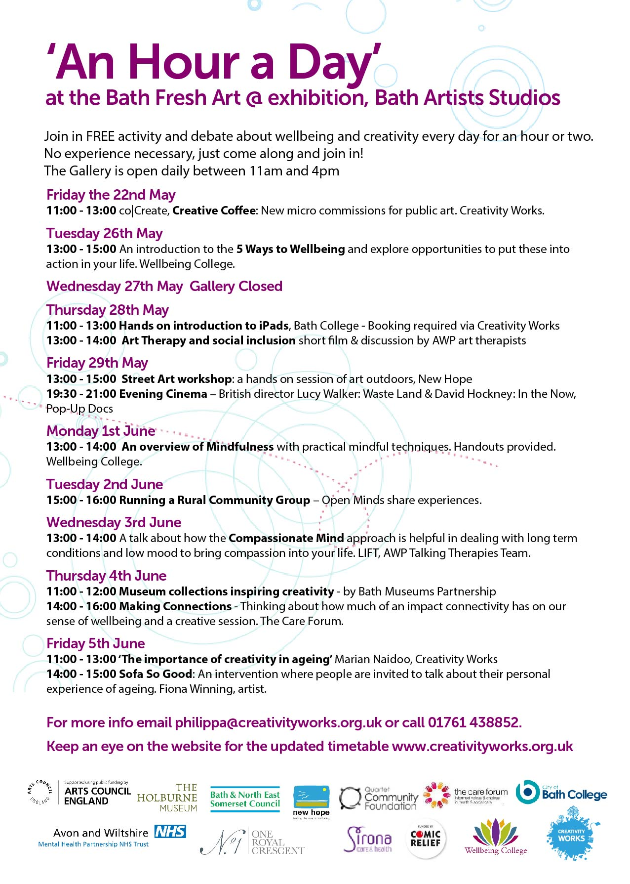 An Hour A Day Of Free Wellbeing Activities