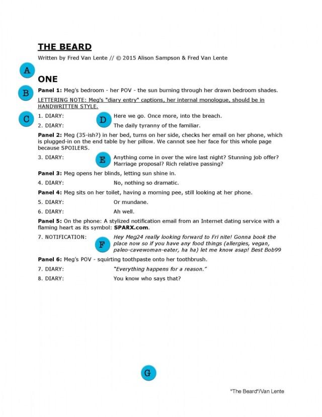 Anatomy of a Comic Script  Creator Resource