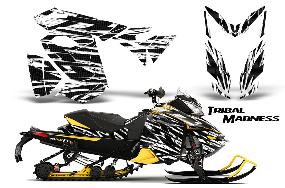 Snowmobiles Wraps Are White