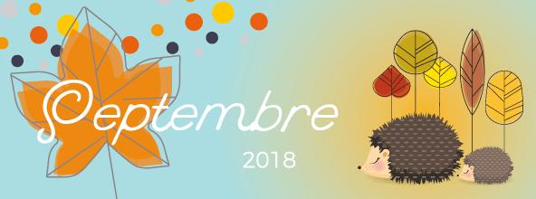 Calendrier SEPTEMBRE 2018 - blog cecile spadotto creatrice graphique - graphiste en ligne