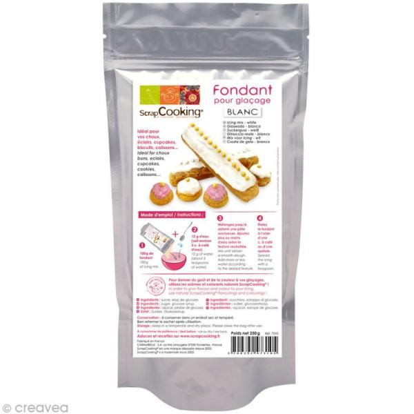 fondant pour glacage blanc vanille preparation 250 g