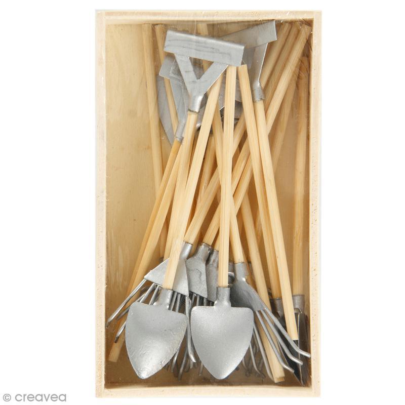 decoration de jardin miniature set outils de jardin 11 cm 20 pcs miniature decorative creavea
